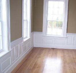 Custom wainscotting and crown-molding